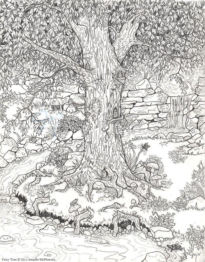 ausmalbilder kostenlos – Märchen, die Färbung der Blätter ...