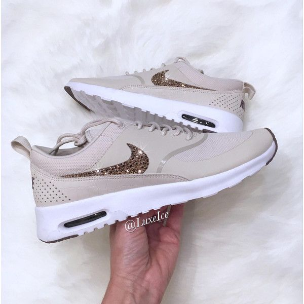Nike Air Max Thea Light Orewood browntaupe Grey Blinged