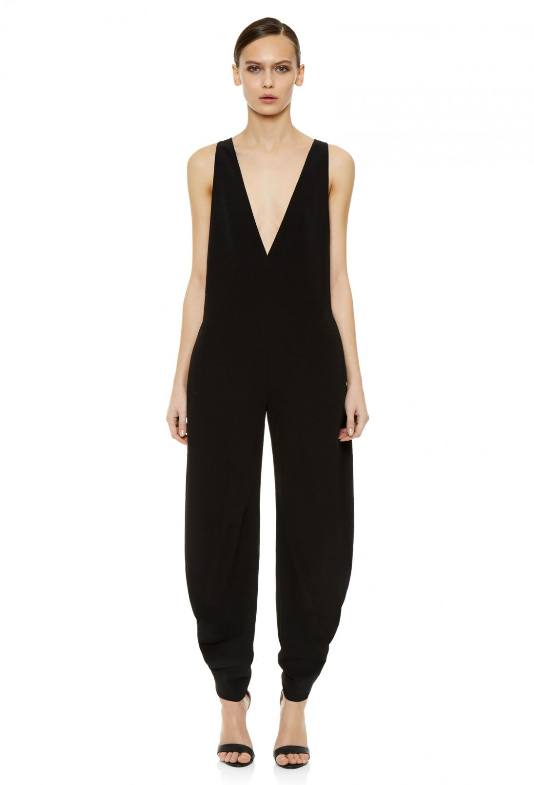 1a41572c6fb Want. But imma need a tube top of somethin. Lol. Axis Loose Fitting Jumpsuit  with Deep Plunge Front · Black · AQ AQ