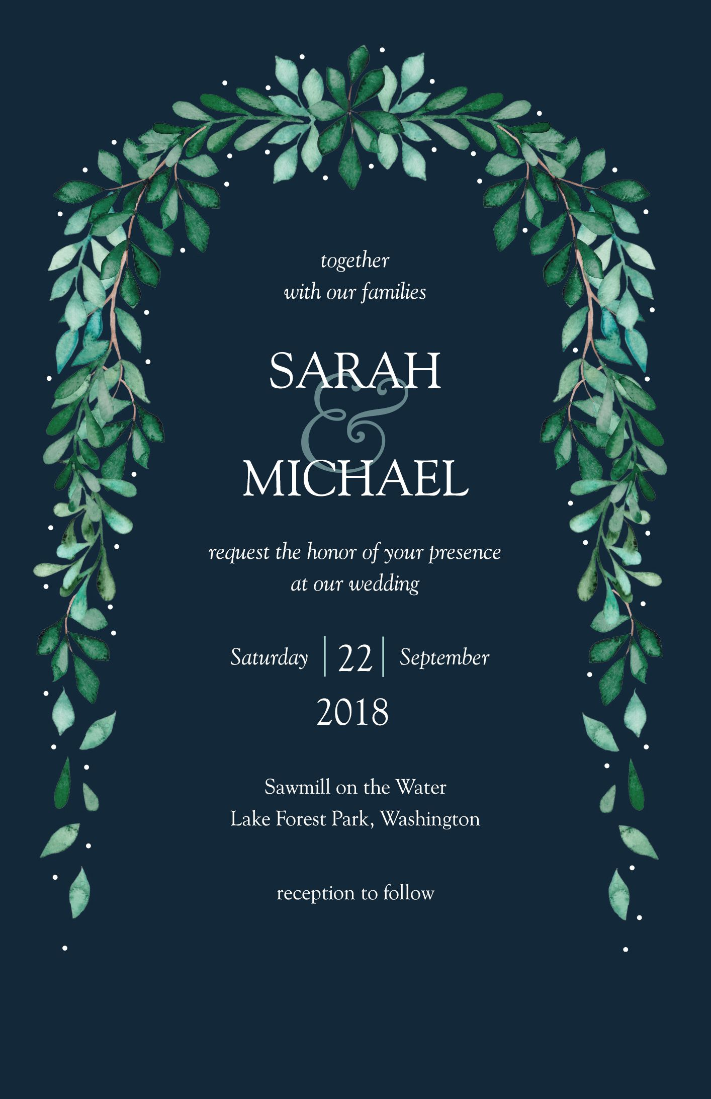 Wedding Invitations Vistaprint.Arch Of Greenery Invitation Weddings By Vistaprint