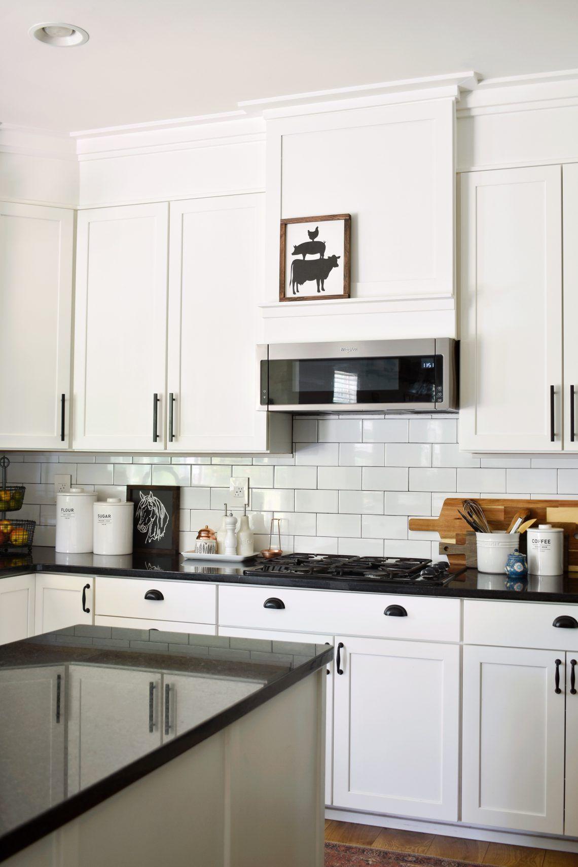 How To Make A Builder Grade Kitchen Look Custom Hilltown House Builder Grade Kitchen Custom Kitchen Builder Grade