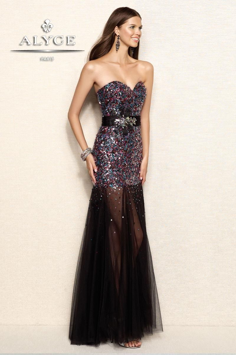 Alyce Designs Prom Dress | ... Mermaid Tulle Long Sequin Prom ...