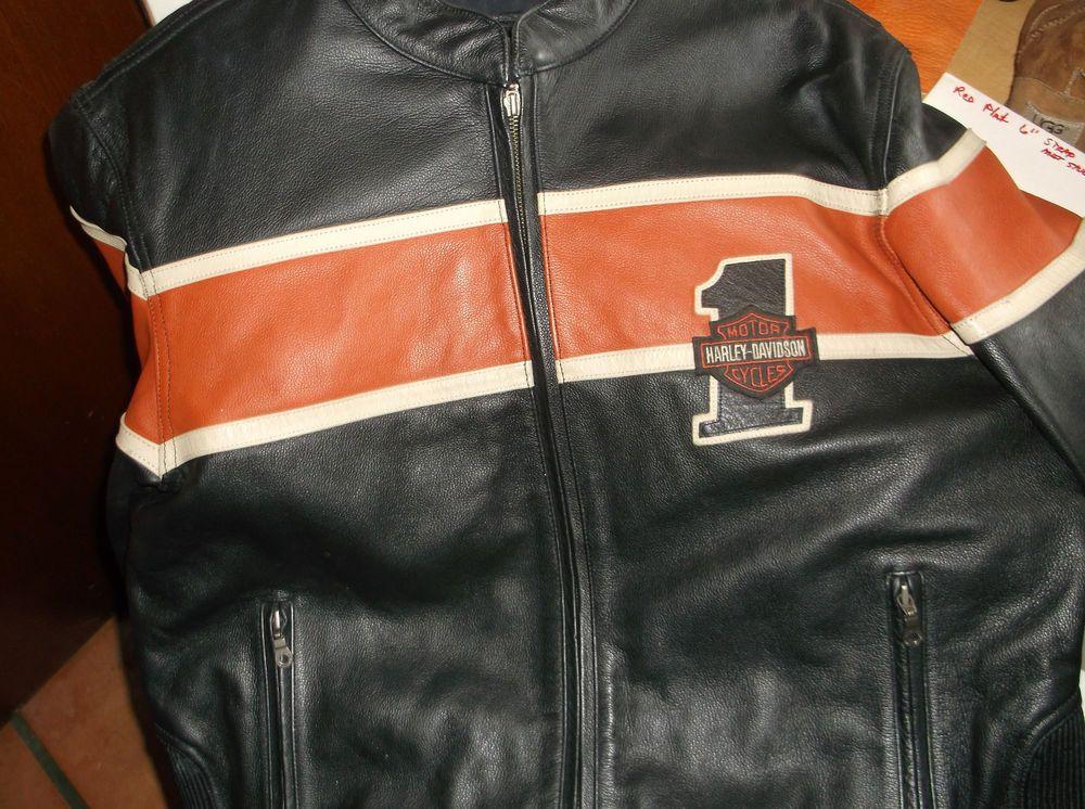Harley Davidson leather jacket size XL #HarleyDavidson #Motorcycle