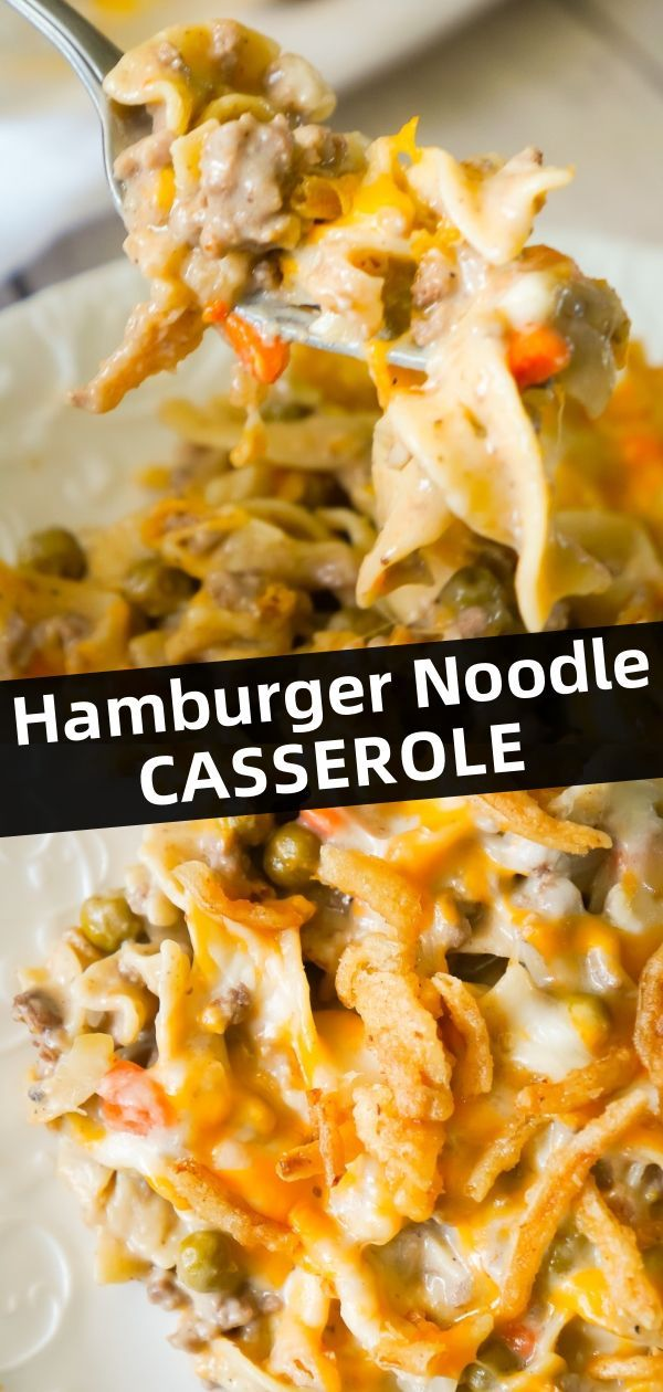 Hamburger Noodle Casserole - This is Not Diet Food