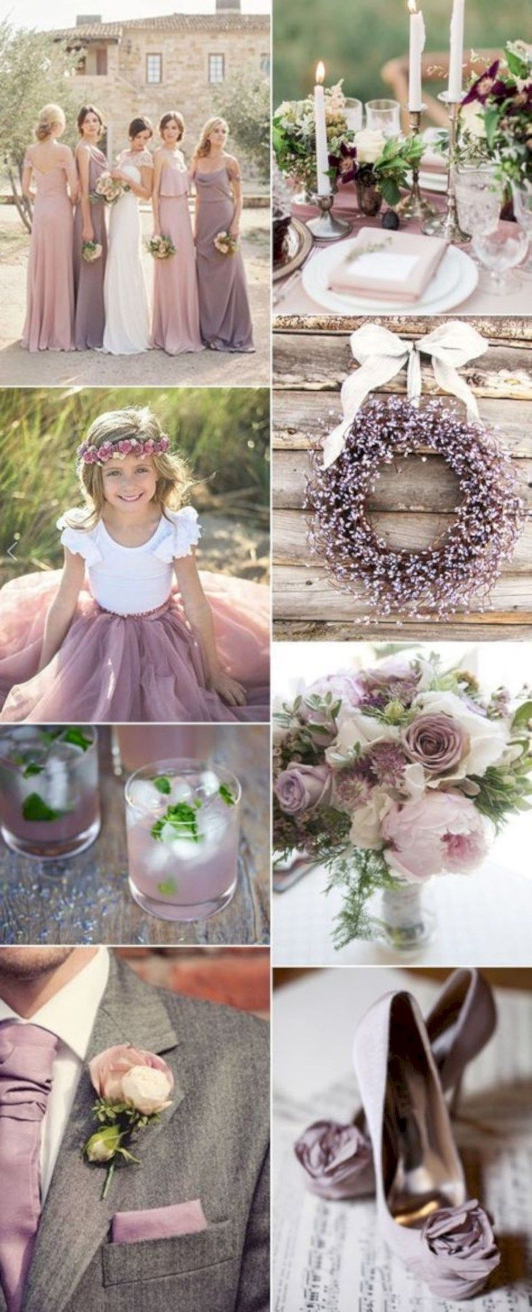 Popular Rustic Shade Of Purple Mauve Wedding Color Ideas For