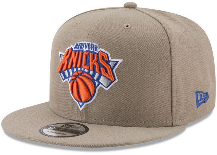 New Era New York Knicks Tan Top 9fifty Snapback Cap New York Knicks Tan Top Snapback Cap