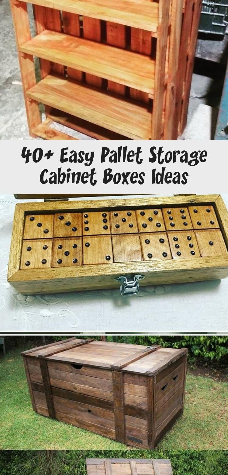 Photo of 40+ Easy Pallet Storage Cabinet Boxes Ideas – Pallet