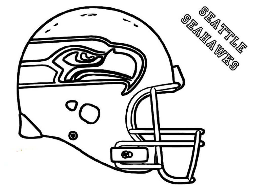 Coloring Rocks Football Coloring Pages Seahawks Helmet Football Helmets