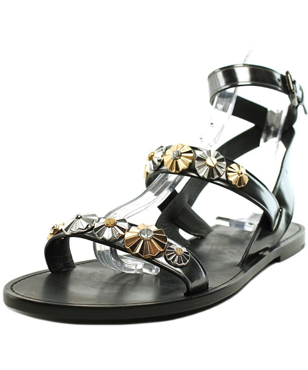 32e4bc07272 COACH Coach Eleanor Mirror Metallic Women Open Toe Leather Black Gladiator  Sandal .  coach  shoes  sandals