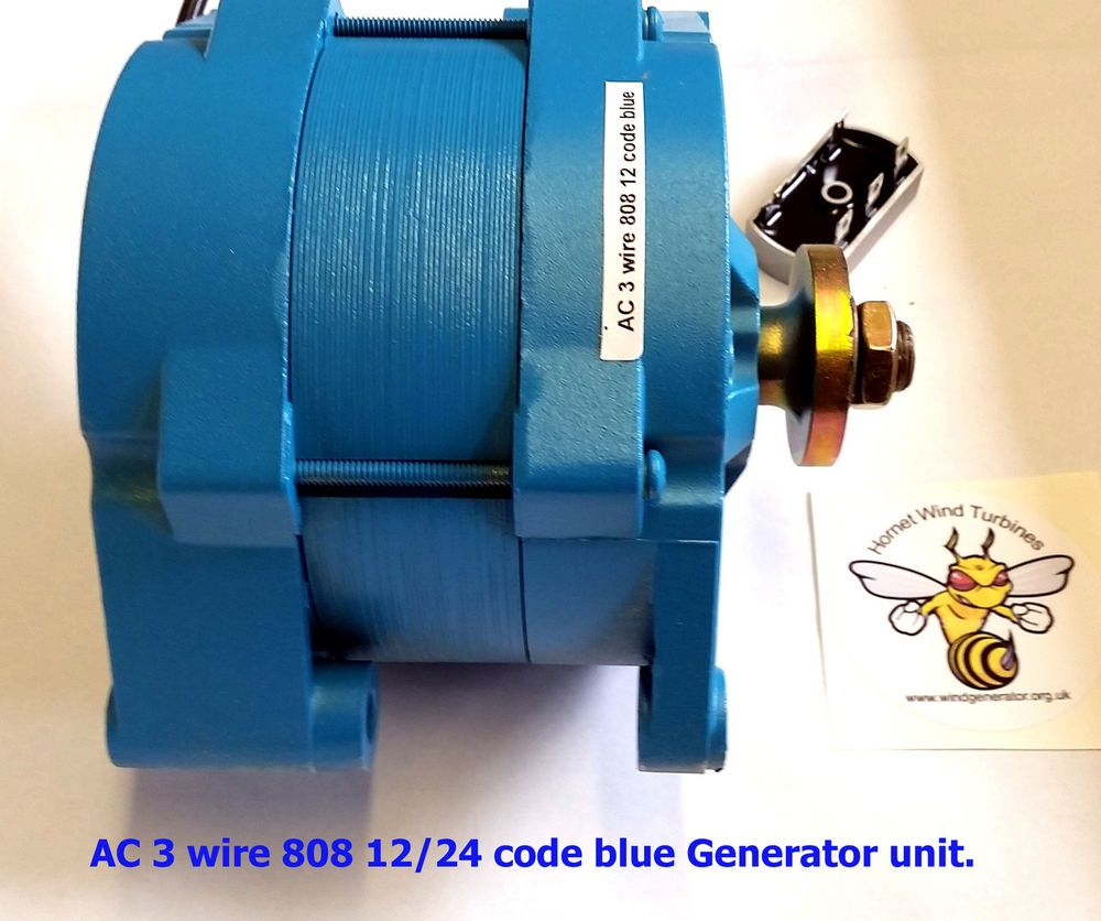 small resolution of wind turbine 3 wire ac generator unit heavy duty 12 24v battery or grid charge