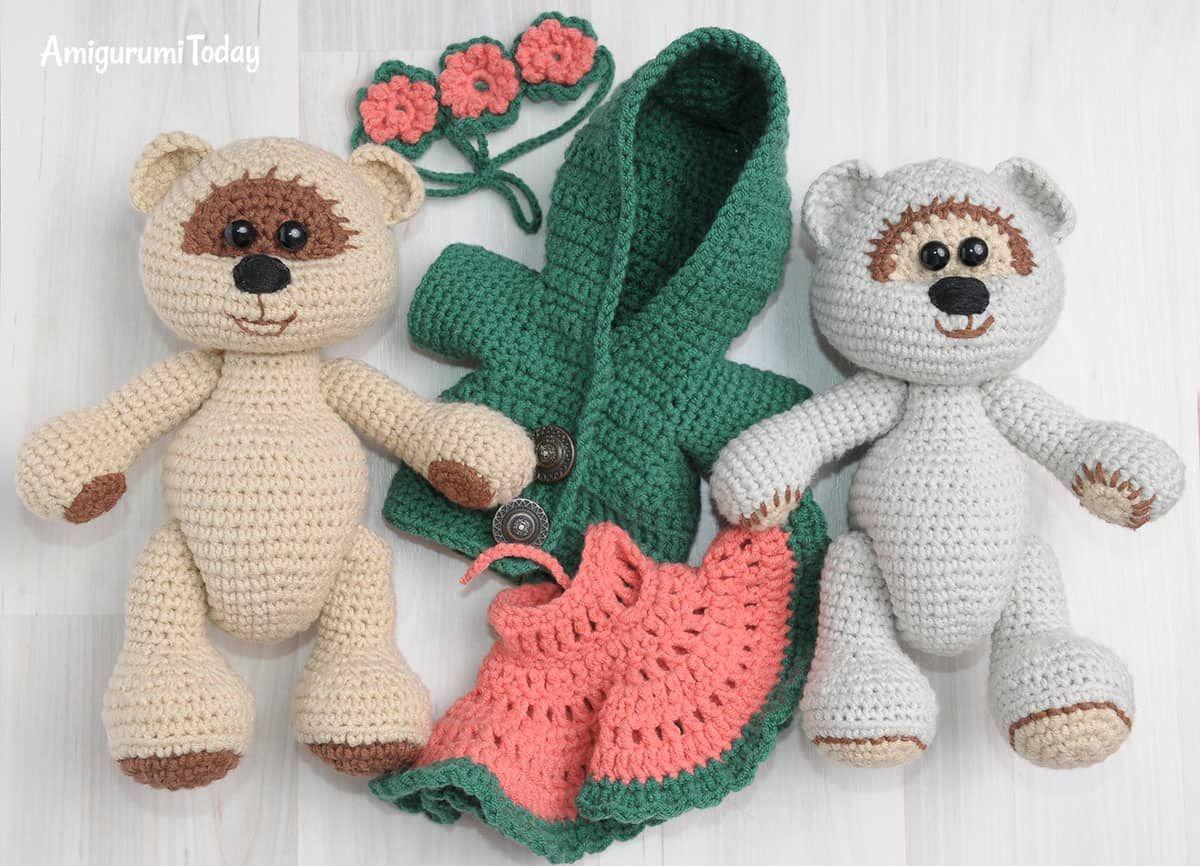 Amigurumi Crochet Patterns Teddy Bears : Honey teddy bears free crochet patterns amigurumi patterns and