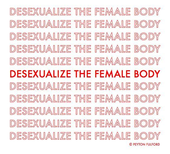 On the subject of the female body and lipstick feminism.