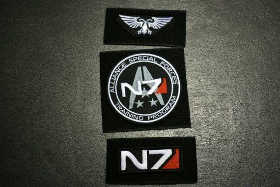 N7 Patch Mass Effect N7 Patch Fully Embroidered Patches Video Games Patches Cosplay Patch Tacti Mass Effect Embroidered Patches Patches