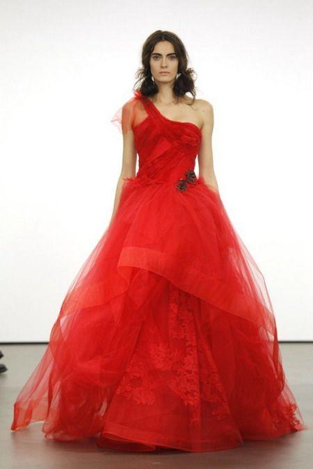 Red and Black Wedding Dresses Vera Wang