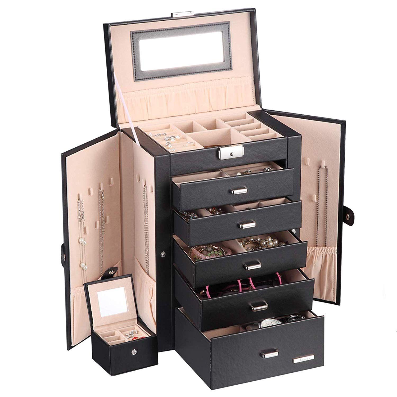 Jewelry Box Gifts That Start With J Jewelry Organizer Box Big Jewelry Jewelry Case