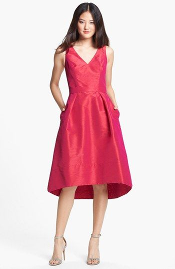 Alfred Sung Satin High Low Fit Amp Flare Dress Online Only
