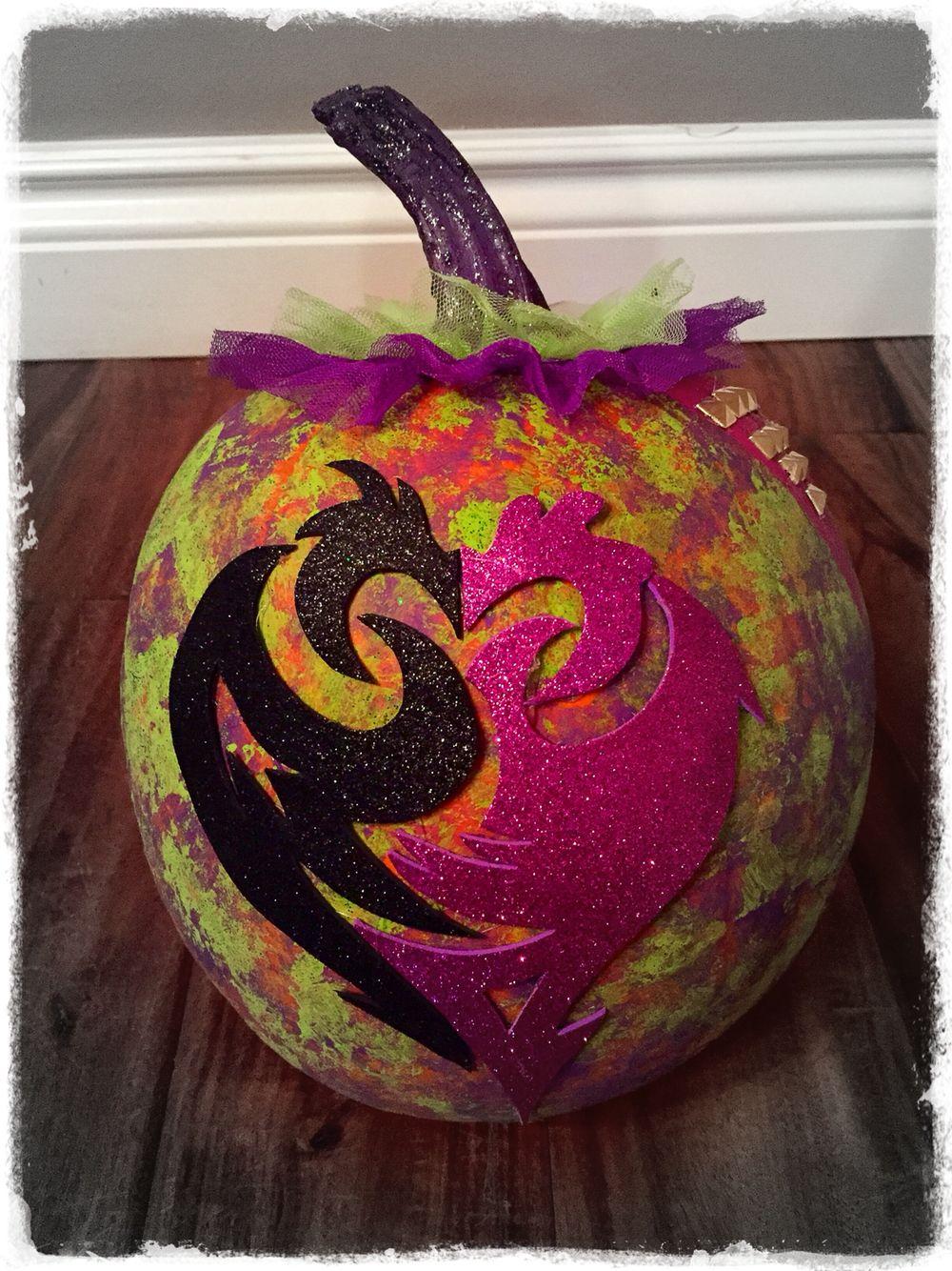 Ava S Disney Descendants Mal Pumpkin Halloween Disney