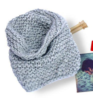 tricoter un snood pour debutant
