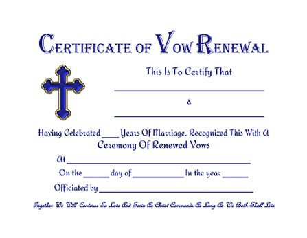 Vow renewal certificate free printables prayers quotes vow renewal certificate free printables yadclub Gallery