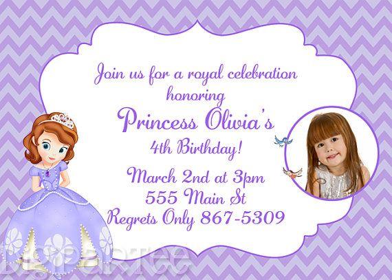 Sofia The First Invitation Birthdays - Birthday invitation template sofia the first
