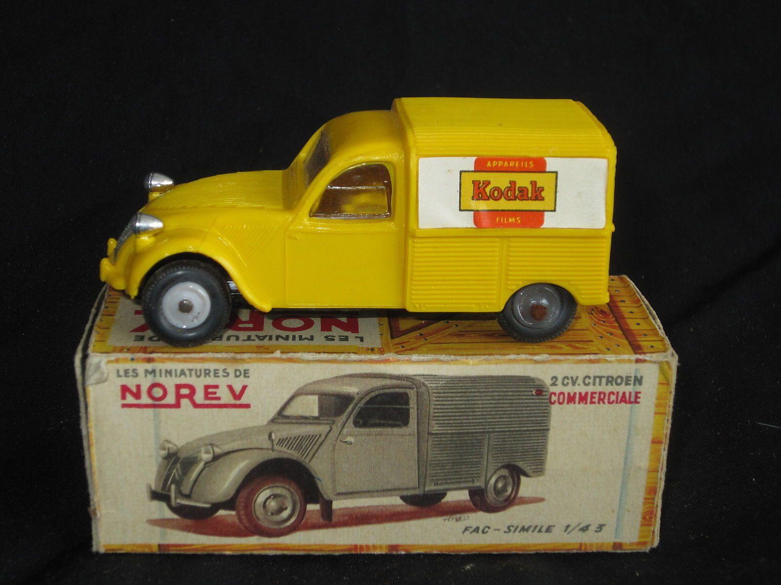 Norev 2cv Commerciale Kodak 2cv Citroen 2cv Jouet