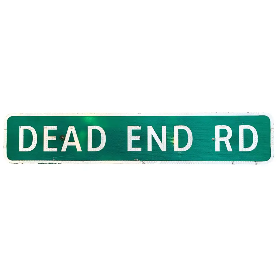 Long Dead End Highway Sign Highway Signs French Signs Street Name Sign