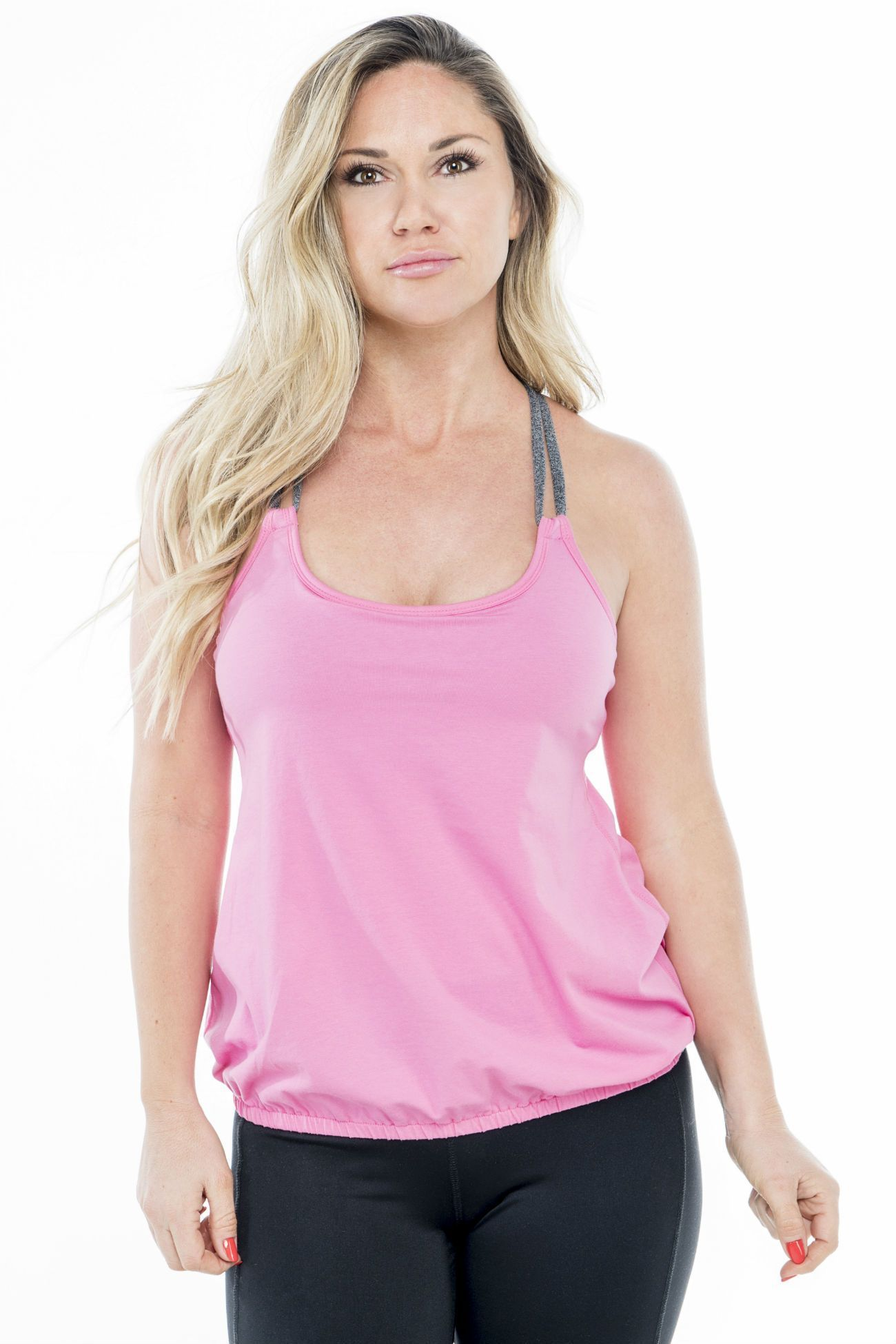 MFF Cross Back Tank Pink Supportive sports bras, Fashion