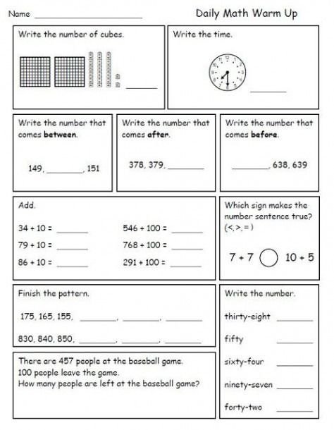 3rd Grade Math Morning Work Worksheets Math Morning Work 3rd Grade Math Worksheets Second Grade Math