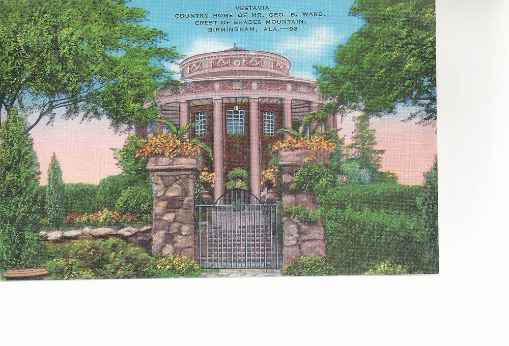 Vestavia Gate Way Shades Mountain Birmingham Al Unused Linen Postcard 10244 Gate Way Birmingham Postcard