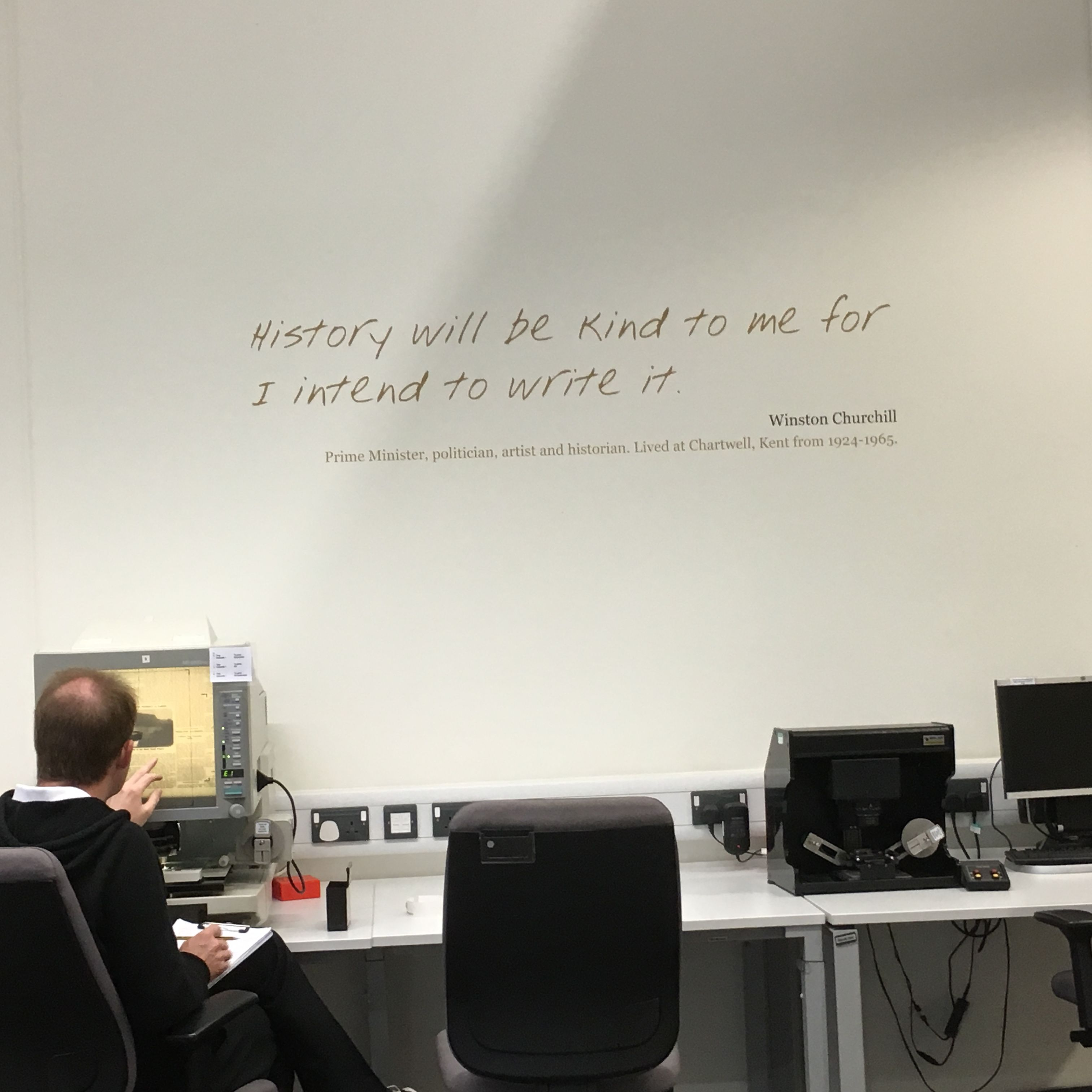 Quote On The Wall Of The Kent Library And Family History