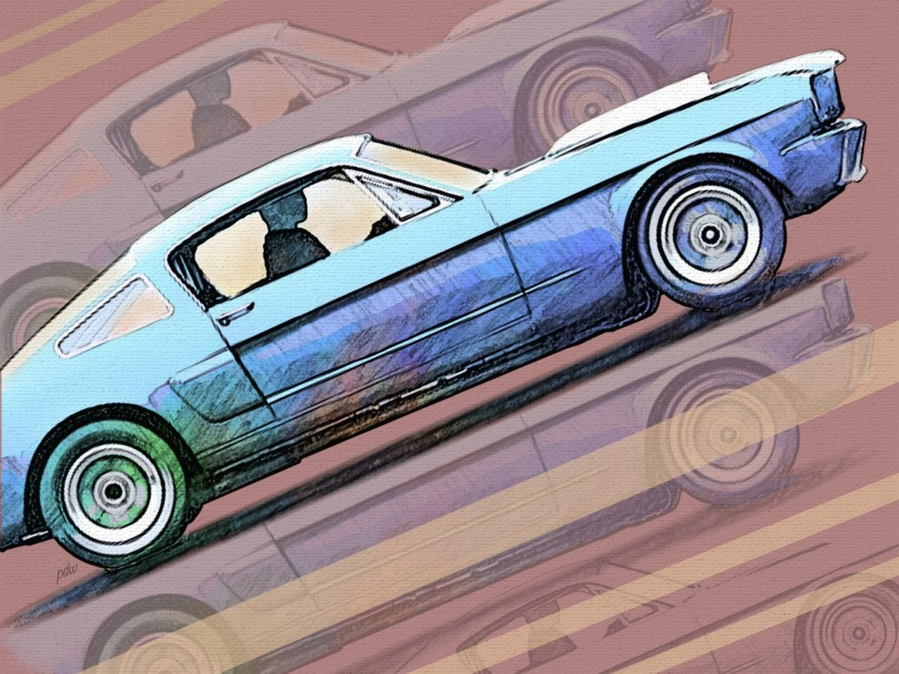 A Symphony For Your Eyes Ears Mustang Art Automotive Art Shelby Gt