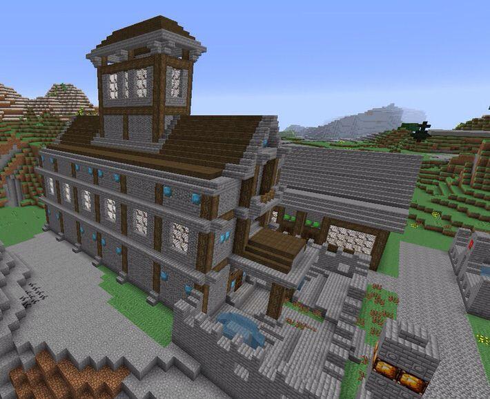The Diamond Court House. Follow the progress of my medieval village on My Minecraft board.