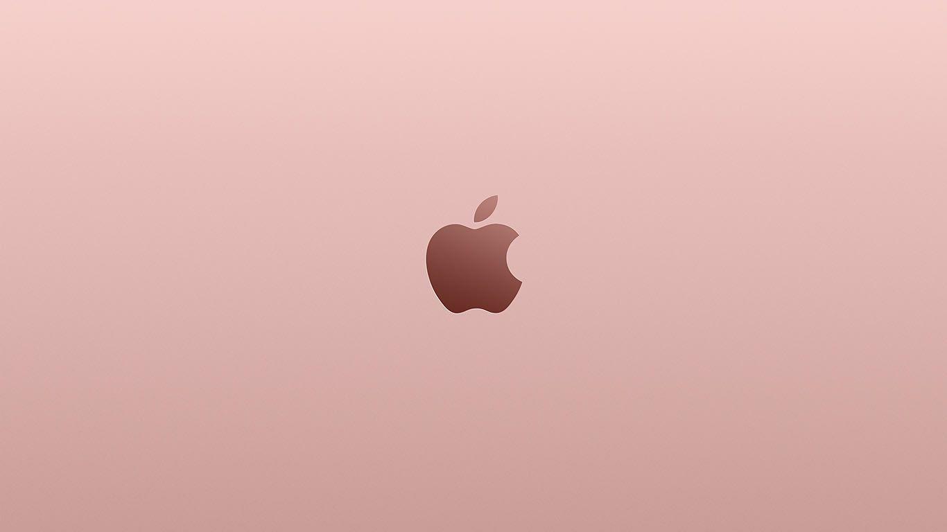 Wallpaper Desktoppapersco Au11 Apple Pink Rose Gold Minimal Illustration Art Via DesktopPapersco