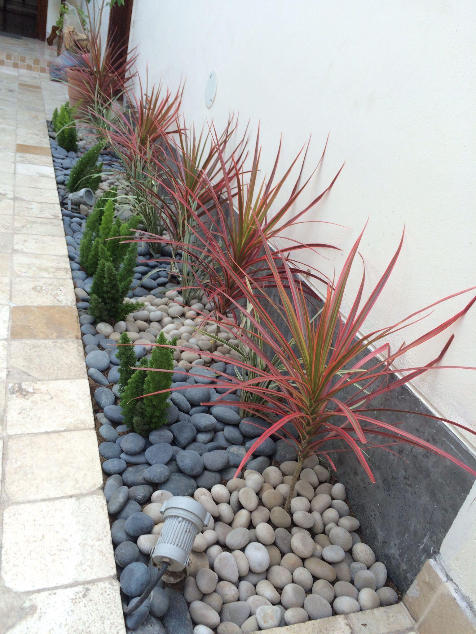 Mi nueva jardinera la idea de las piedras no solo es for Piedras para decorar jardineras