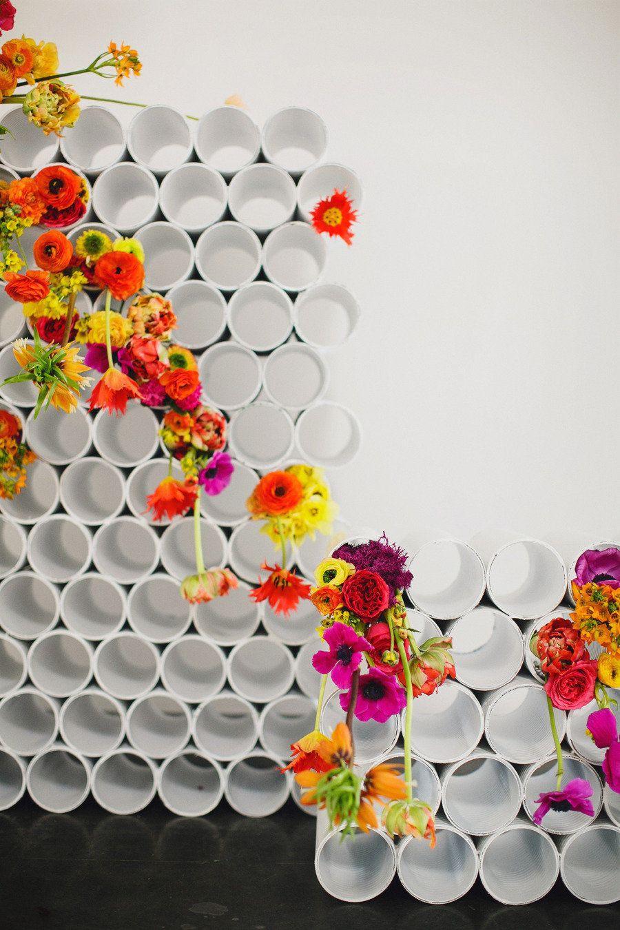 neon rainbow modern wedding backdrop | Creative decor ideas ...