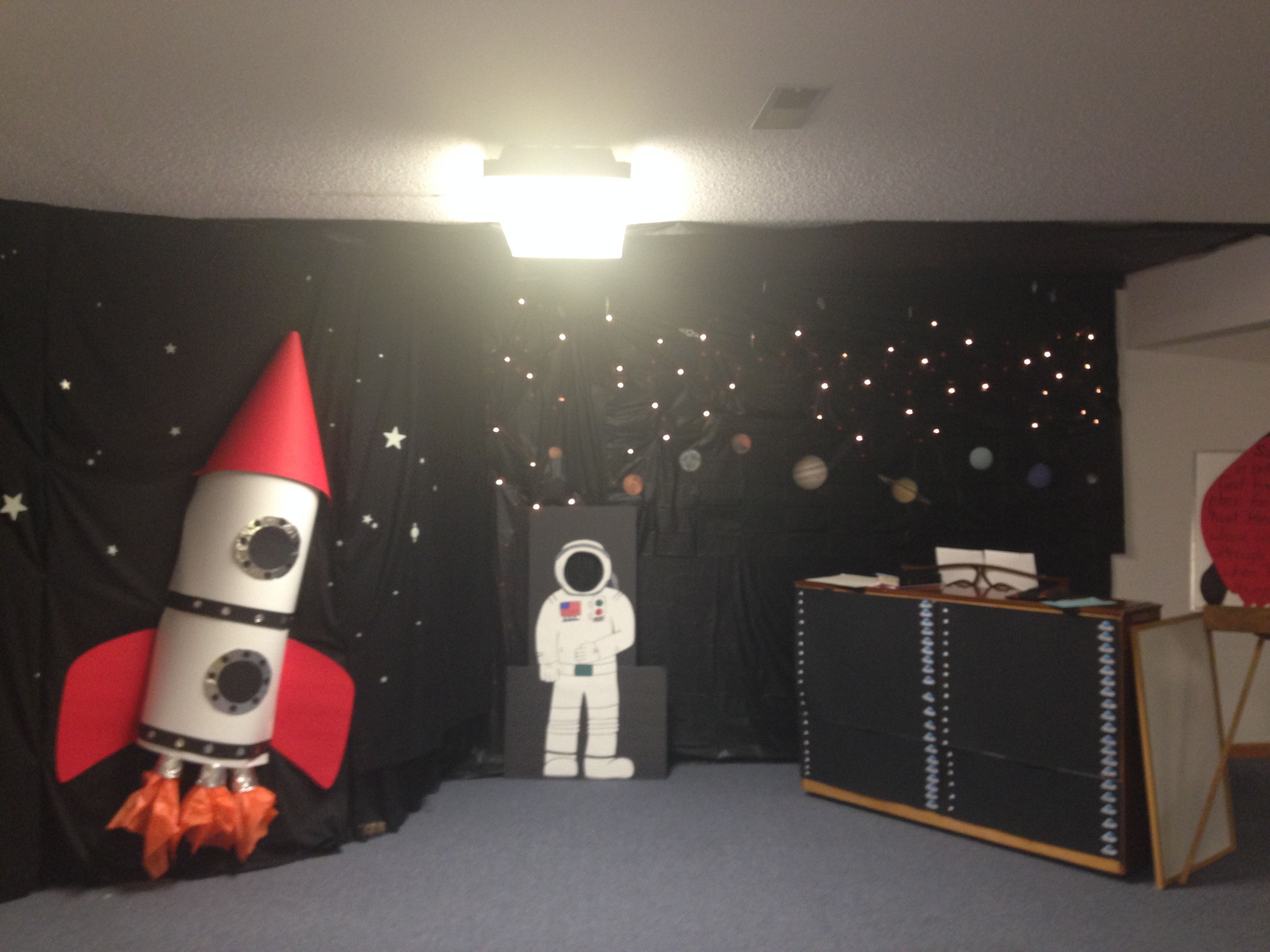 My Outer Space Decorations For Bible Explorers  Just Using - Astronaut decorations