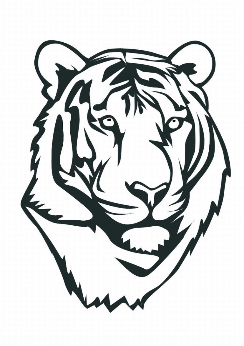 Tiger Coloring Pages Tiger Coloring Pages 3 Lrg Tiger Face