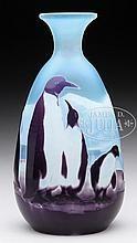 Emile Gallé - cameo penguin vase