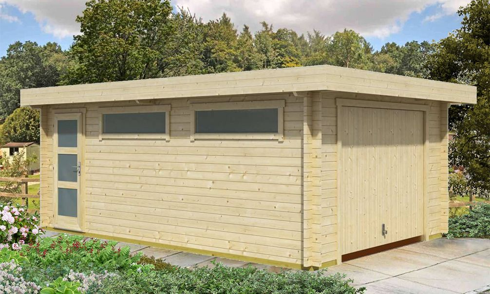 Dans le garage moderne CANBERRA, vous disposerez du0027une surface utile - construire une cabane de jardin en bois