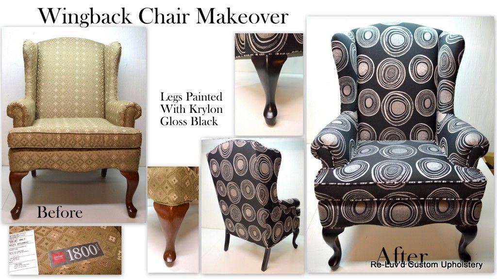 Reluvd Sklar Peppler Wingback Chair Makeover In A Bold
