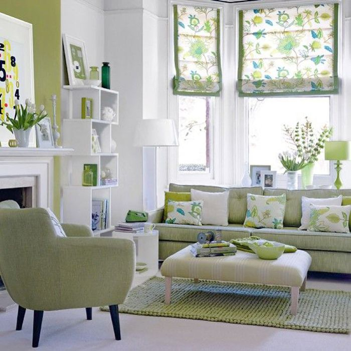 Green And White Summer Decor Ideas Bright Shades Of Make A Neutral Room POP