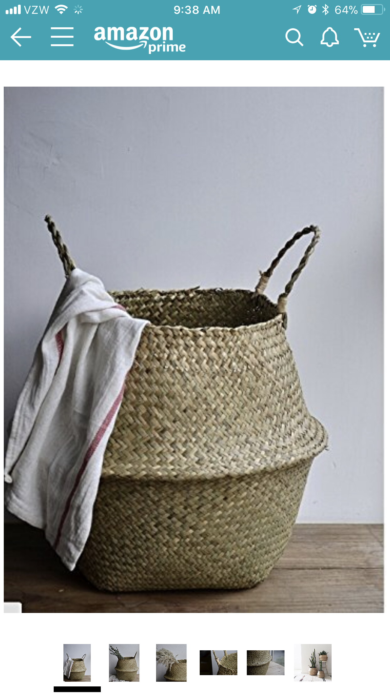 Natural Seagrass Belly Basket with Handles Toy Storage and Baby Laundry Basket