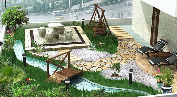 kleiner Garten in der Stadt-garten auf die terrasse - fresHouse - kleiner garten gestalten