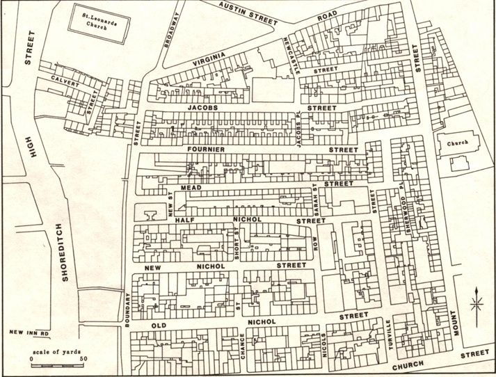 The Old Nichol Left And Estate Right That Was Built Upon: London Old Street Map At Infoasik.co