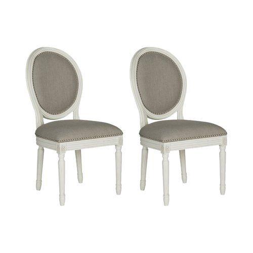Olivier Upholstered Dining Chair Safavieh Colour Frame Cream