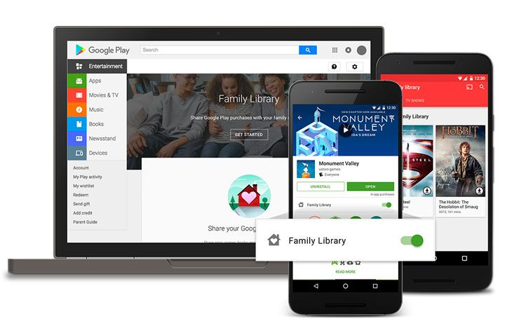 Google Play agora compartilha apps comprados entre a Família - http://www.showmetech.com.br/biblioteca-da-familia-no-google-play/