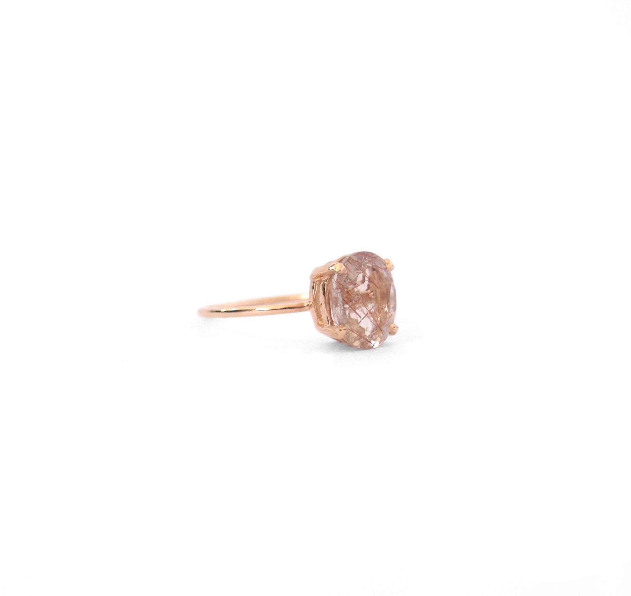 Precious Rutilated Quartz Ring