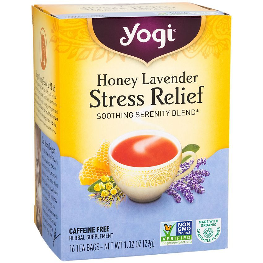 Honey Lavender Stress Relief 16 Tea Bags By Yogi Tea At The Vitamin Shoppe In 2020 Stress Relief Tea Yogi Tea Tea Diet
