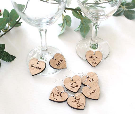 DIY Wine Glass Charms Wedding Table Decorations Favours Mint Green
