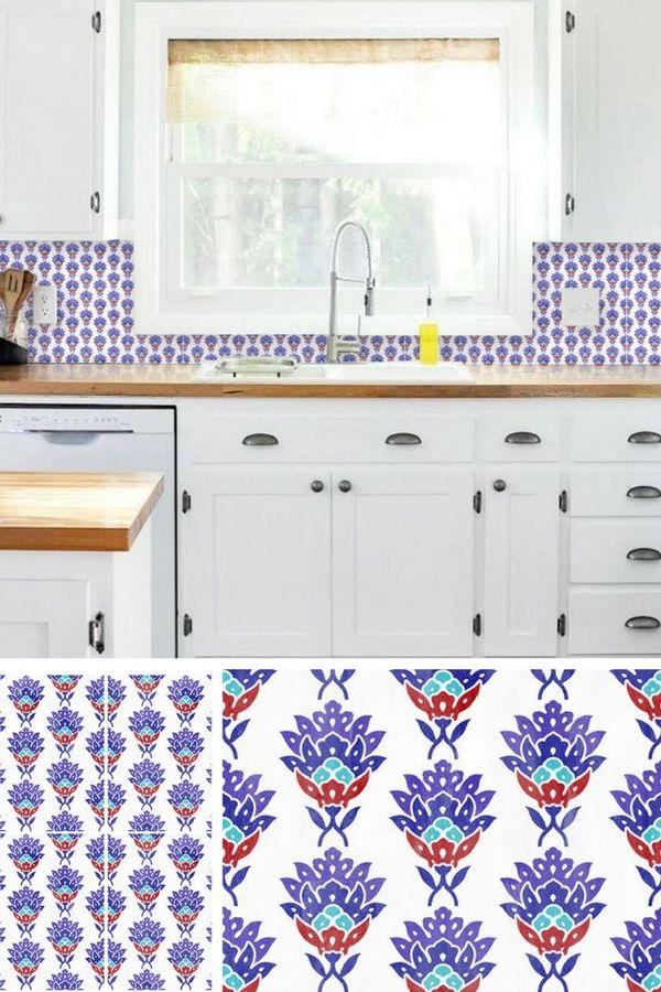 19 Idées pour une Crédence Adhésive Imitation Carreaux de Ciment ! - adhesif pour plan de travail cuisine